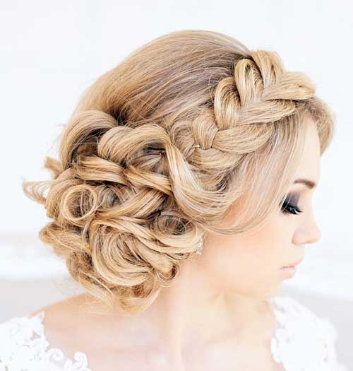 Braided Updo For Wedding Hair