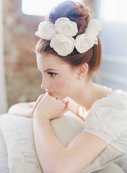 Bridal Bun with Flower