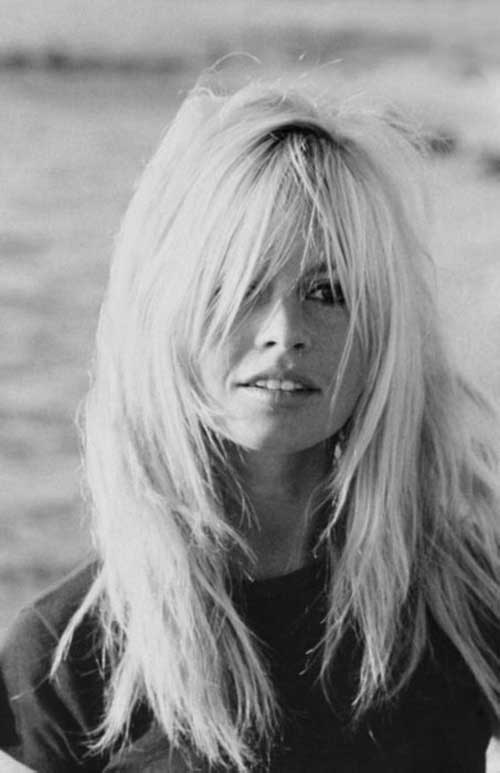 Brigitte Bardot Layered Hair