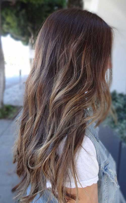 Brown Hair with Blonde Low Lights Ideas