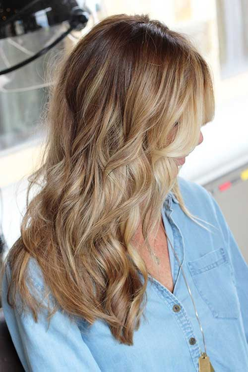 Brown To Blonde Colored Hairstyles