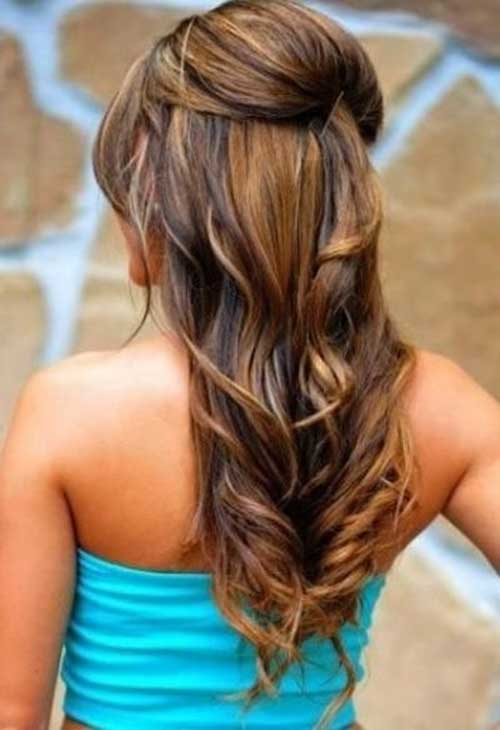 Summer Hair Brown with Caramel Highlights