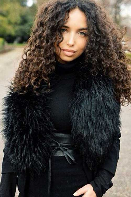 34 new curly perms for hair hairstyles haircuts 2016 2017 brunette colored with curly perm hair urmus