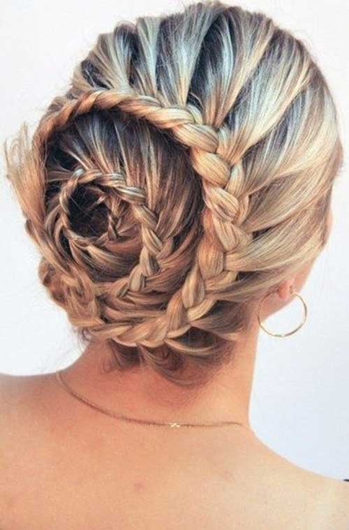 Cute Bun Long Hair Styles Braids for Girls