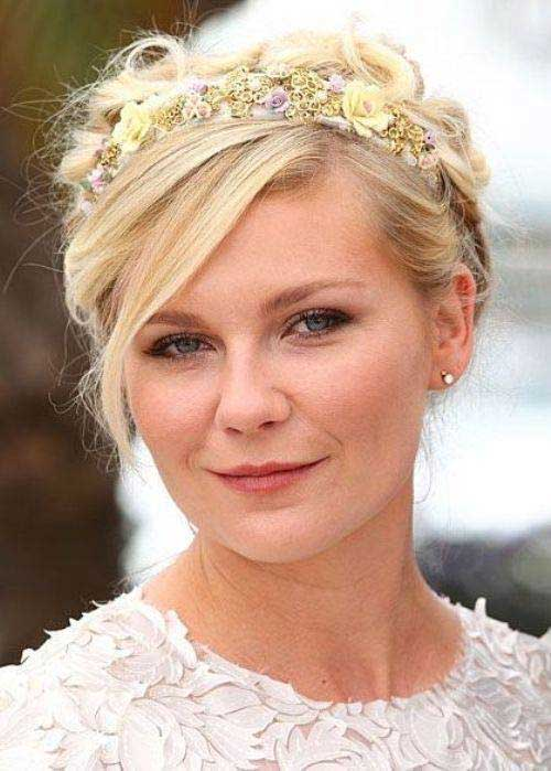 Celebrities Wedding Cute Updo Hairstyles