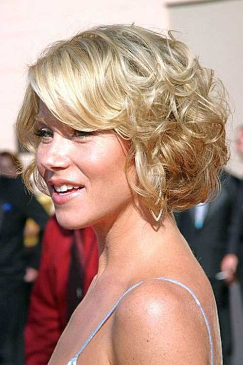 Curled Short Hair for Wedding
