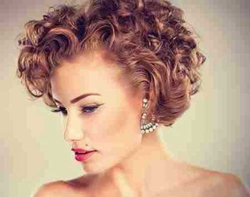 Wedding Curly Hair Undercut Women