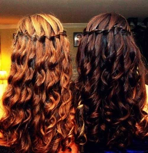 Gorgeous Curly Hairstyles with Braids