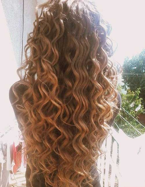 Long Curly Permed Hair