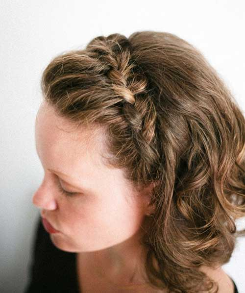 Cute Braided Half Up Short Hair