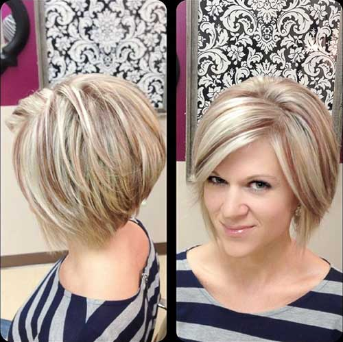Cute Blonde Hairstyle For Short Hair