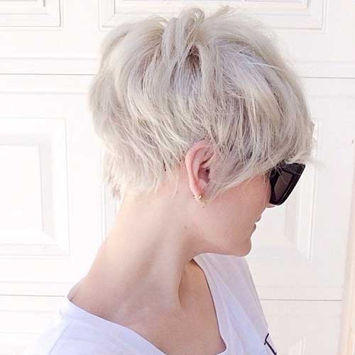 Cute Platinum Pixie Cut