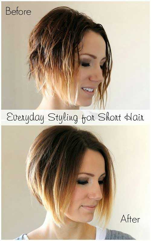 Cute Easy Short Angled Bob