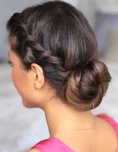Cute Updo Styles for Long Dark Hair