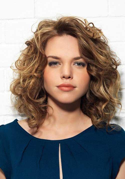 Astonishing 35 Medium Length Curly Hair Styles Hairstyles Amp Haircuts 2016 2017 Short Hairstyles Gunalazisus