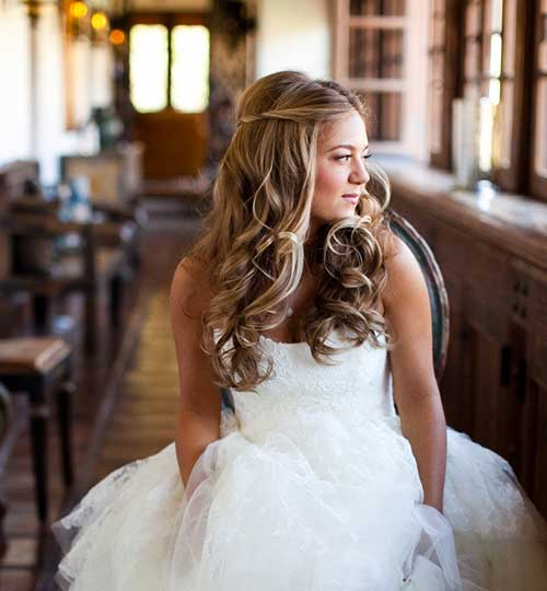 Down Beach Wedding Honey Blonde Hairstyles