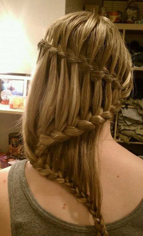 Easy Waterfall Braid Idea