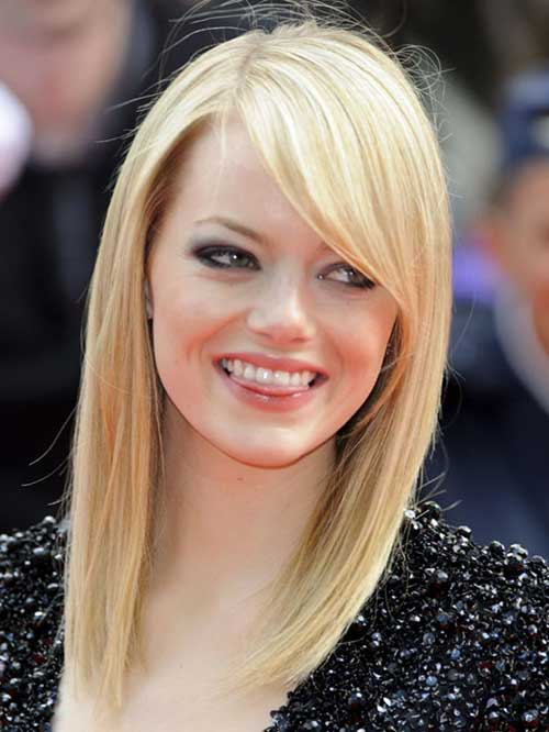 Emma Stone Medium Hair with Bangs
