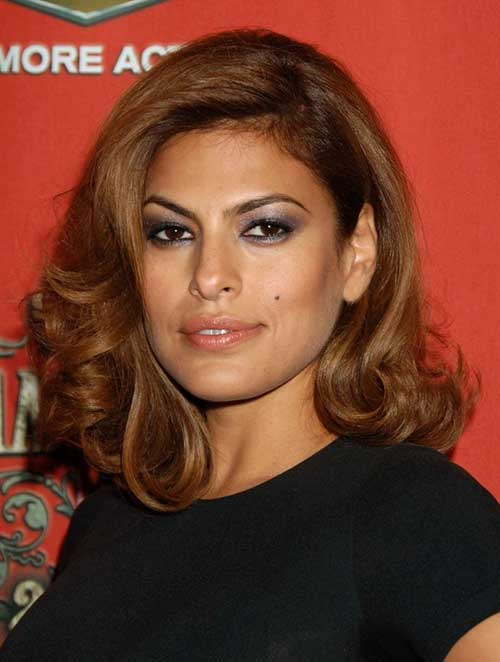 Eva Mendes Hairstyle Short Medium Curly Hair