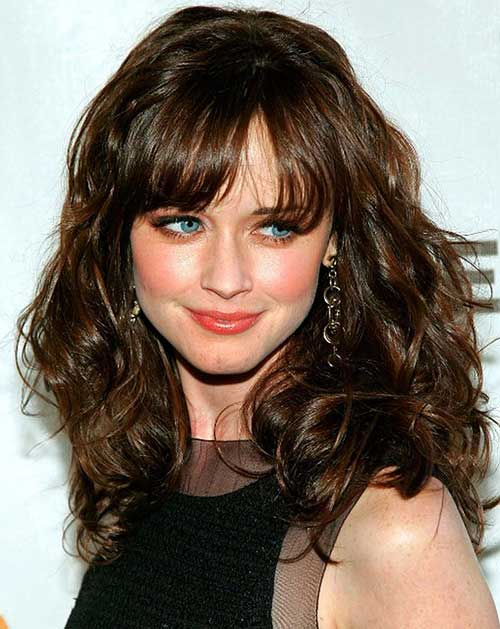 Fine 30 Best Curly Hair With Bangs Hairstyles Amp Haircuts 2016 2017 Hairstyle Inspiration Daily Dogsangcom