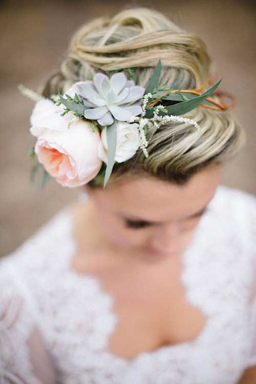 Floral Crowns Buns for Long Hair