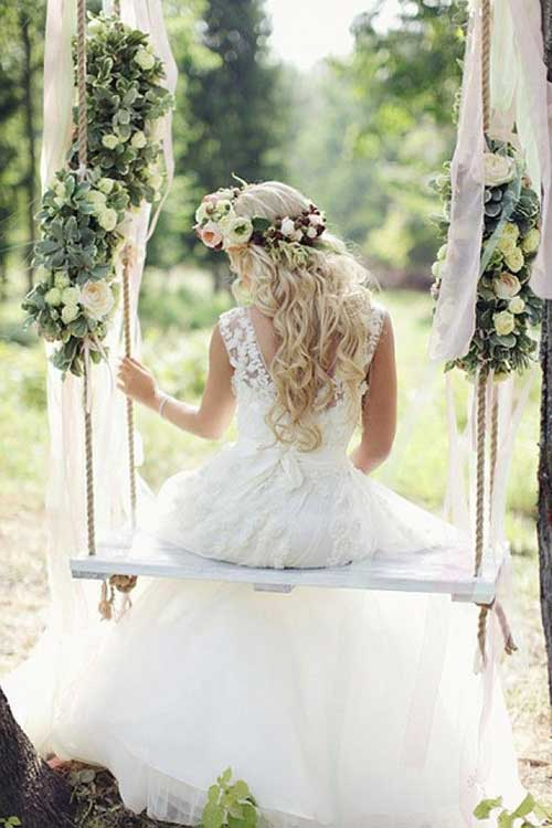 Flowers on Wedding Hairdo