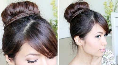 Formal Bun Updos for Medium Hair
