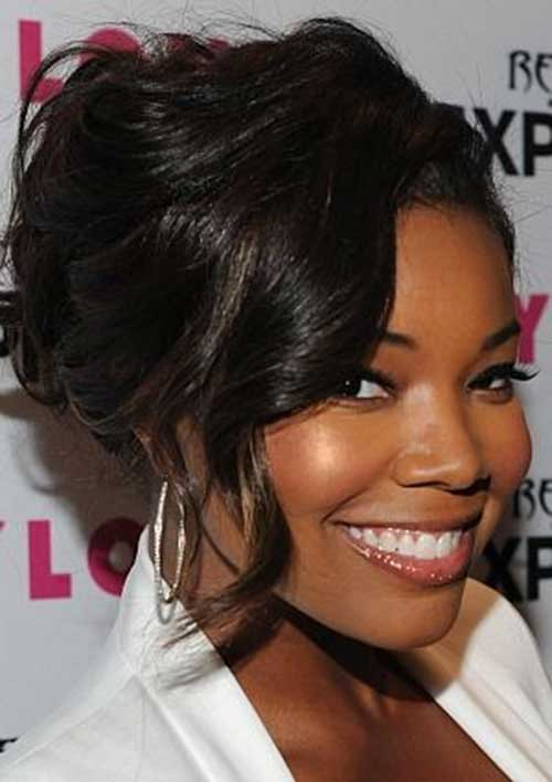 Gabrielle Union Cutest Updo Hair