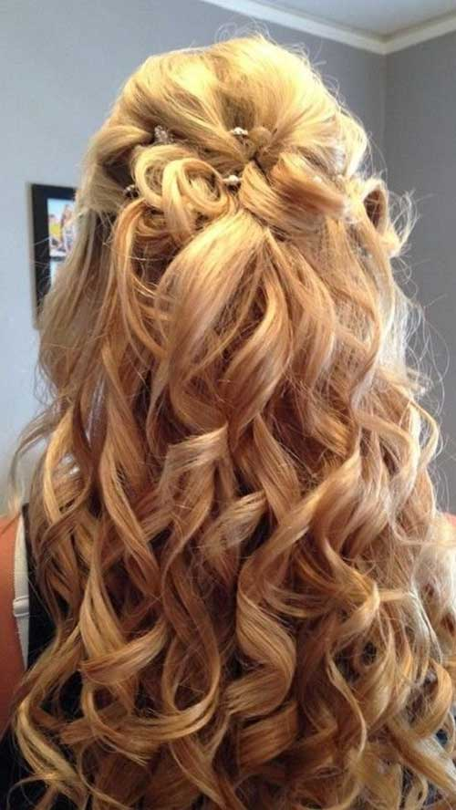Brilliant 30 Best Half Up Curly Hairstyles Hairstyles Amp Haircuts 2016 2017 Hairstyle Inspiration Daily Dogsangcom