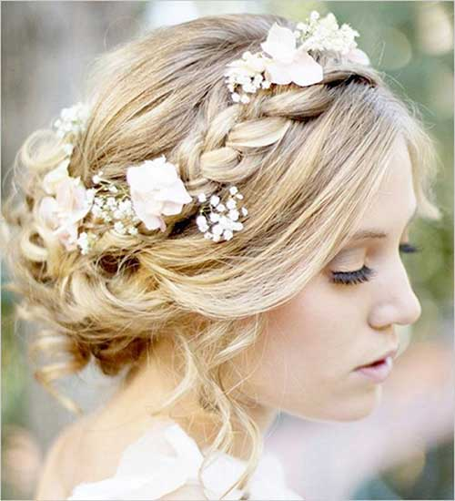 Fl Gorgeous Updo Hair For Wedding