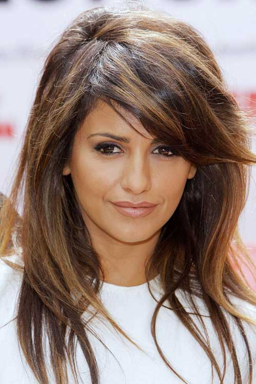 Hair Color with Side Bangs Hairstyles