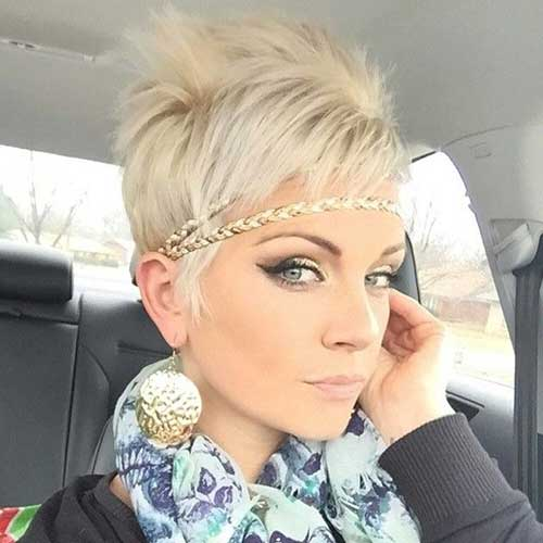 Platinum Haircut Pixie