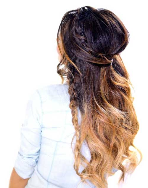 Awesome 30 Best Half Up Curly Hairstyles Hairstyles Amp Haircuts 2016 2017 Hairstyle Inspiration Daily Dogsangcom