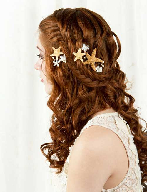 Hair Clips Hairstyles for Beach Weddings