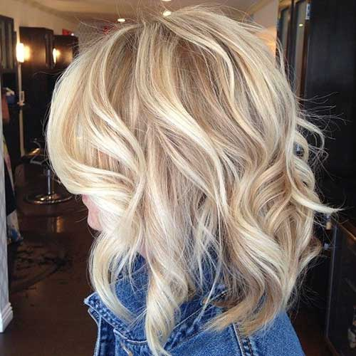Low Lights Hairstyles for Medium Length Wavy Hair