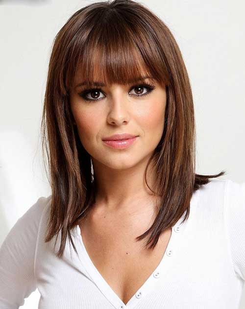 Shoulder Length Hairstyles For Dark Brown Hair : 20 medium lenght hairstyles & haircuts 2016 2017