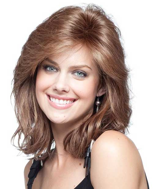 Medium Length Light Brown Hairstyles 15 thick medium length hairstyles