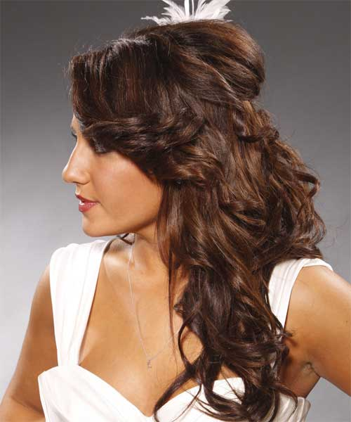 Nice Half Up Curly Formal Hairstyle