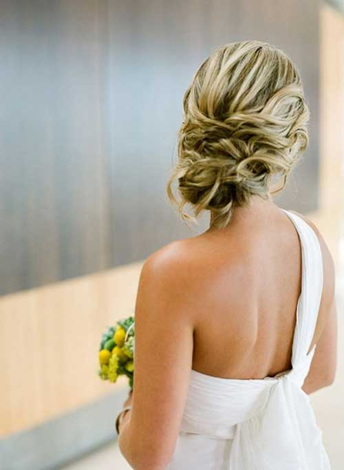 Highlighted Blonde Bung for Wedding Long Hairstyles
