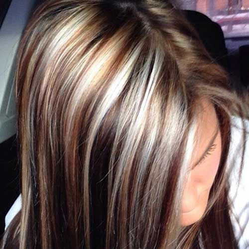 Highlights and Lowlights for Dark Brown Hair Colors