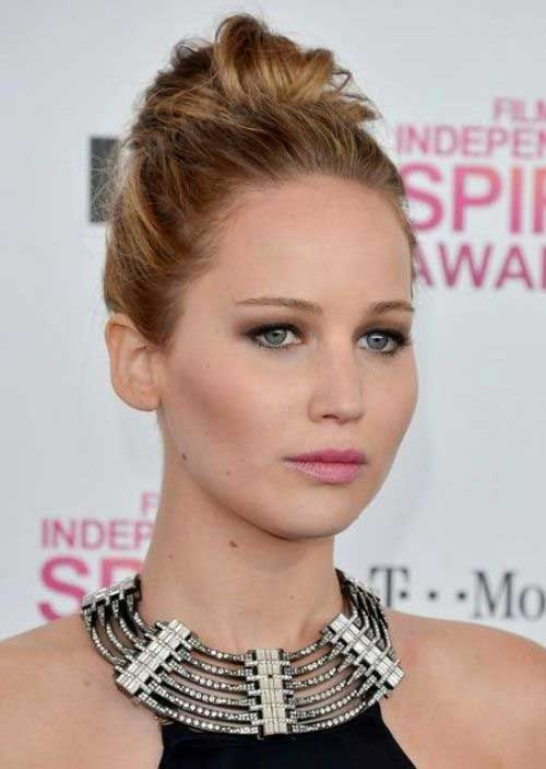 Jennifer Lawrence Updo for Medium Lenght Hair