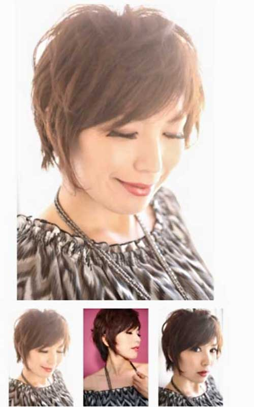 Best Short Cute Layered Brown Pixie