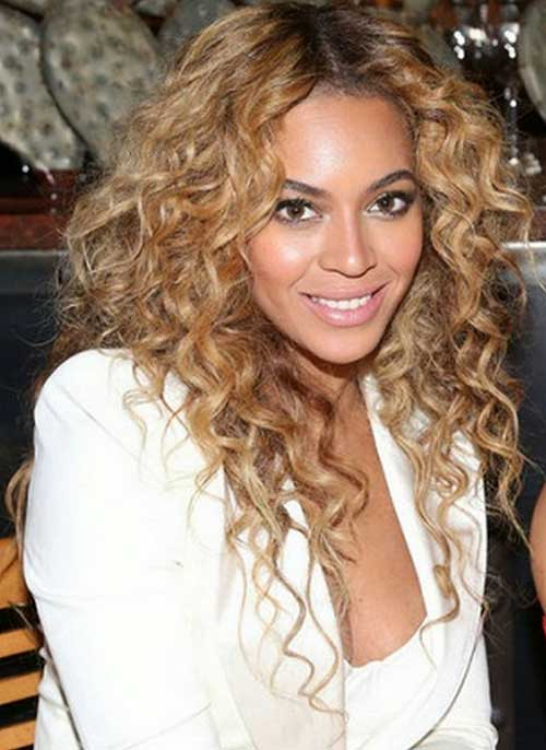 Beyonce Layered Haircuts for Long Curly Hair