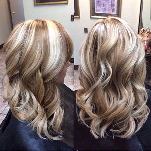 Light Brown with Blonde Highlights for Summer