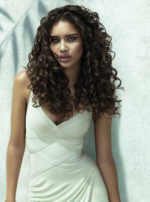 Cool 35 Long Layered Curly Hair Hairstyles Amp Haircuts 2016 2017 Hairstyles For Women Draintrainus