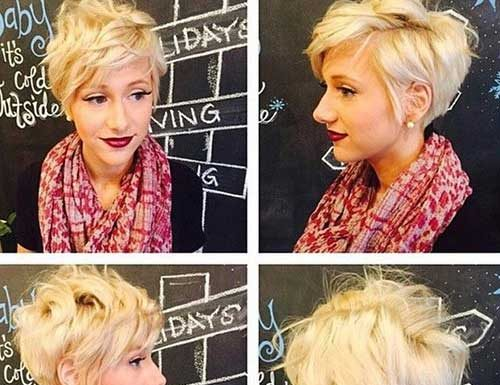 Long Blonde Pixie Hairstyles