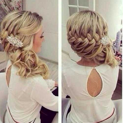 Braided Long Prom Hair