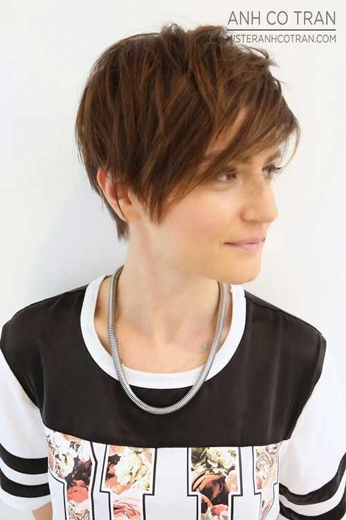 Brown Longer Sassy Pixie