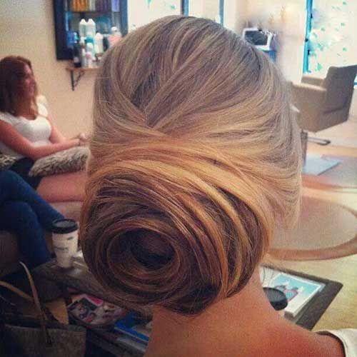 Low Rose Bun Hairstyles for Weddings