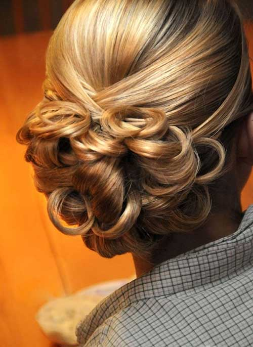 Best Low Bun Wedding Hair with Curls